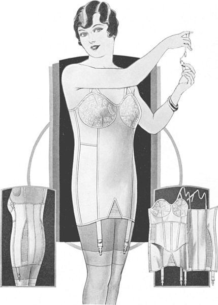 Vintage-Brassiere-Girdle